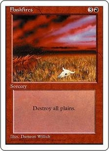 Magic the Gathering Fourth Edition Single Card Uncommon Flashfires