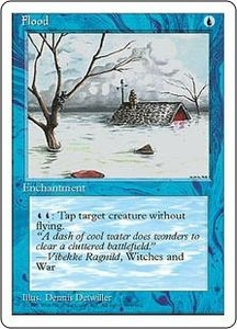Magic the Gathering Fourth Edition Single Card Common Flood
