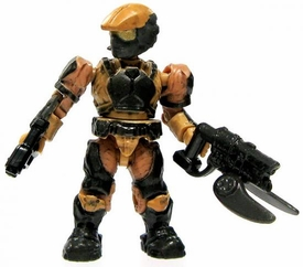 Halo Wars Mega Bloks LOOSE Mini Figure UNSC Tan Marine with Magnum & Spiker