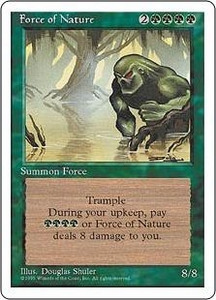 Magic the Gathering Fourth Edition Single Card Rare Force of Nature
