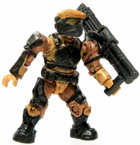 Halo Wars Mega Bloks LOOSE Mini Figure UNSC Tan Marine with Rocket Launcher