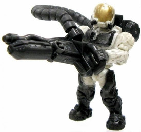 Halo Wars Mega Bloks LOOSE Mini Figure UNSC White Flame Marine with Flamethrower