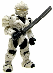 Halo Wars Mega Bloks LOOSE Mini Figure UNSC White Hayabusa Spartan with Katana