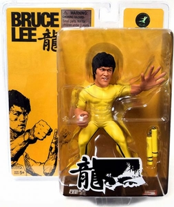 Round 5 Bruce Lee 6 Inch FanAtiks Series 1 Action Figure Game of Death Bruce Lee [Yellow Suit With Nunchucks]