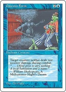 Magic the Gathering Fourth Edition Single Card Common Gaseous Form