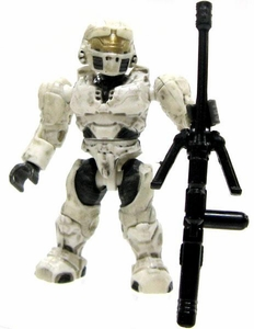 Halo Wars Mega Bloks LOOSE Mini Figure UNSC White Spartan with Sniper Rifle