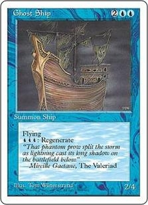 Magic the Gathering Fourth Edition Single Card Uncommon Ghost Ship