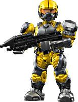 Halo Wars Mega Bloks LOOSE Mini Figure UNSC Yellow Marine with Assault Rifle