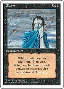 Magic the Gathering Fourth Edition Single Card Uncommon Gloom