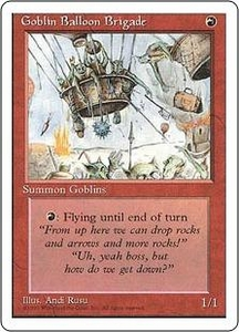 Magic the Gathering Fourth Edition Single Card Uncommon Goblin Balloon Brigade