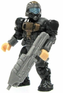 Halo Wars Mega Bloks LOOSE Mini Figure UNSC Black & Copper ODST with Assault Rifle