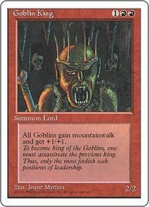 Magic the Gathering Fourth Edition Single Card Rare Goblin King