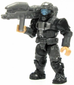 Halo Wars Mega Bloks LOOSE Mini Figure UNSC Black & Silver ODST with Spartan Laser