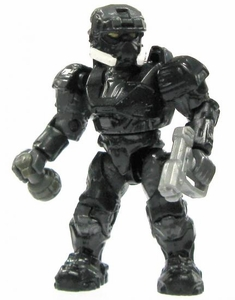 Halo Wars Mega Bloks LOOSE Mini Figure UNSC Black EOD Spartan with Magnum & Frag Grenade