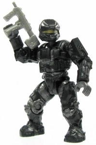 Halo Wars Mega Bloks LOOSE Mini Figure UNSC Black Scout Spartan with SMG