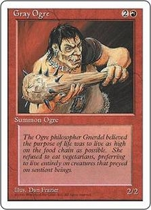 Magic the Gathering Fourth Edition Single Card Common Gray Ogre
