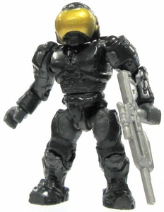 Halo Wars Mega Bloks LOOSE Mini Figure UNSC Black Security Spartan with Marksman Rifle