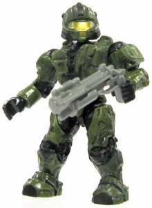 Halo Wars Mega Bloks LOOSE Mini Figure UNSC Green CQB Spartan with Grenade Launcher
