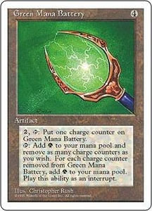 Magic the Gathering Fourth Edition Single Card Rare Green Mana Battery