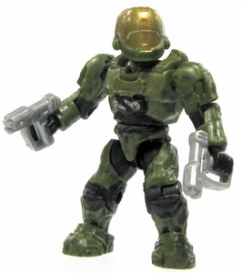 Halo Wars Mega Bloks LOOSE Mini Figure UNSC Green EVA Spartan with Twin Magnums