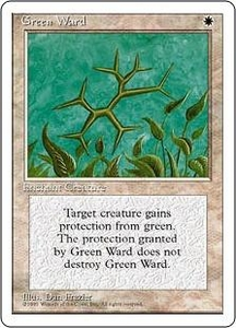 Magic the Gathering Fourth Edition Single Card Uncommon Green Ward
