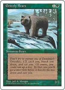 Magic the Gathering Fourth Edition Single Card Common Grizzly Bears