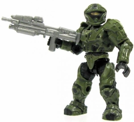 Halo Wars Mega Bloks LOOSE Mini Figure UNSC Green Recon Spartan with Assault Rifle