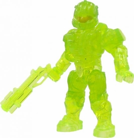 Halo Wars Mega Bloks LOOSE Mini Figure UNSC Trans Green CQB Spartan with Grenade Launcher