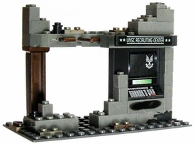 Halo Wars Mega Bloks LOOSE Terrain Bombed-Out UNSC Recruitment Center