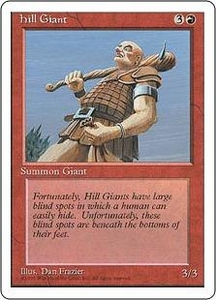 Magic the Gathering Fourth Edition Single Card Common Hill Giant