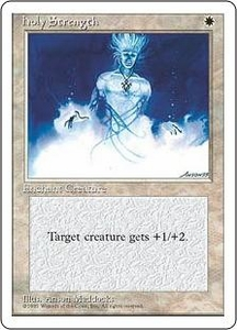 Magic the Gathering Fourth Edition Single Card Common Holy Strength