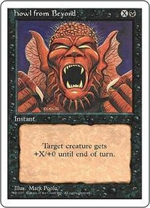 Magic the Gathering Fourth Edition Single Card Common Howl from Beyond