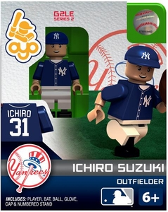 OYO Baseball MLB Generation 2 Building Brick Minifigure Ichiro Suzuki [New York Yankees]