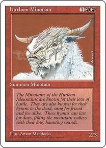 Magic the Gathering Fourth Edition Single Card Common Hurloon Minotaur