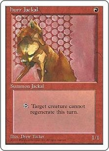 Magic the Gathering Fourth Edition Single Card Rare Hurr Jackal