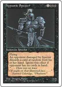 Magic the Gathering Fourth Edition Single Card Uncommon Hypnotic Specter