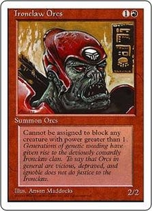 Magic the Gathering Fourth Edition Single Card Common Ironclaw Orcs