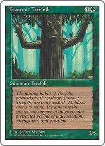 Magic the Gathering Fourth Edition Single Card Common Ironroot Treefolk