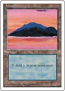 Magic the Gathering Fourth Edition Single Card Land Island [Random Artwork]