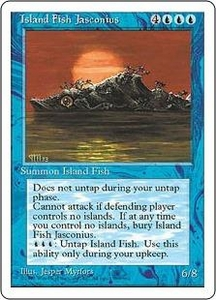 Magic the Gathering Fourth Edition Single Card Rare Island Fish Jasconius