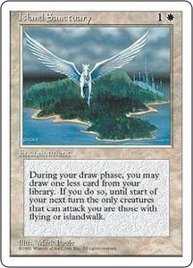 Magic the Gathering Fourth Edition Single Card Rare Island Sanctuary