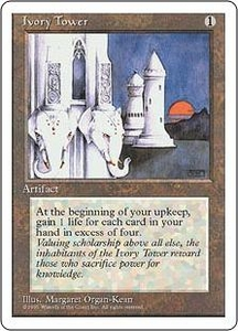 Magic the Gathering Fourth Edition Single Card Rare Ivory Tower