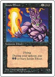 Magic the Gathering Fourth Edition Single Card Uncommon Junun Efreet