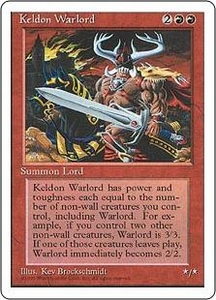 Magic the Gathering Fourth Edition Single Card Uncommon Keldon Warlord