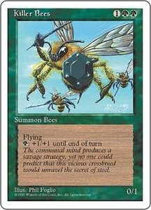 Magic the Gathering Fourth Edition Single Card Uncommon Killer Bees