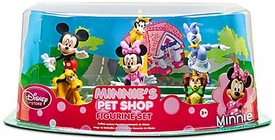 Disney Exclusive 6 Piece PVC Figurine Set Minnie's Pet Shop [Mickey, Minnie, Daisy, Clarabelle, Pluto & Fifi]