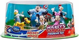 Disney Exclusive 6 Piece PVC Figurine Set Mickey's Car Wash [Mickey, Minnie, Donald, Goofy, Pluto & Pete]