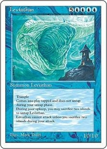 Magic the Gathering Fourth Edition Single Card Rare Leviathan