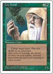 Magic the Gathering Fourth Edition Single Card Uncommon Ley Druid