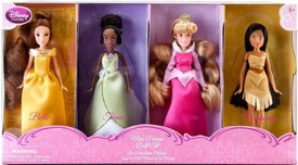 Disney Princess Exclusive Mini Princess Doll Set #2 Belle, Tiana, Aurora & Pocahontas